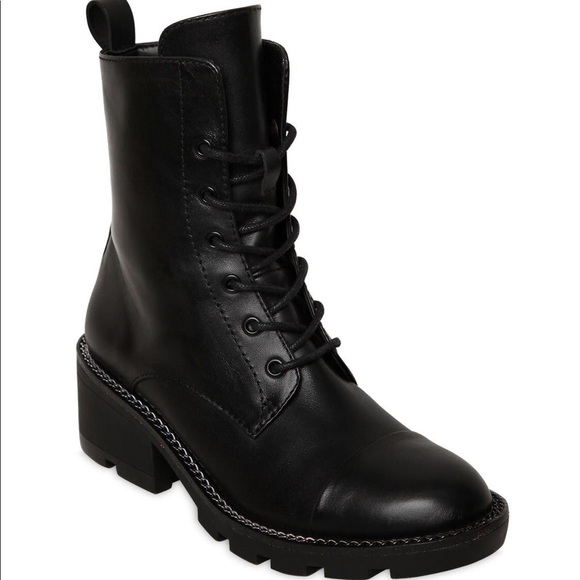 99e37ccf0 Kendall & Kylie Shoes - Kendall + Kylie Black Leather Park Combat Boots